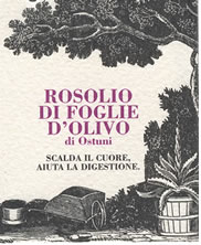 Rosolio made with olive leaves, Masseria Il Frantoio, Ostuni, Apulia, Italy